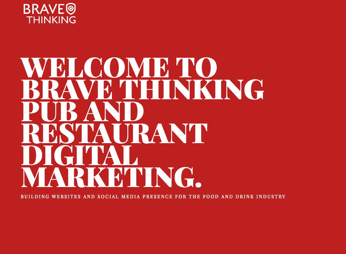 Brave Thinking's latest offering, Food and Bev ...