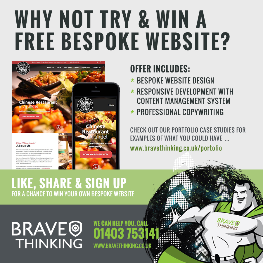 Secure your future and win a bespoke website